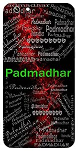 Padmadhar (One Who Holds A Lotus ( Lord Vishnu)) Name & Sign Printed All over customize & Personalized!! Protective back cover for your Smart Phone : Samsung Galaxy Alpha