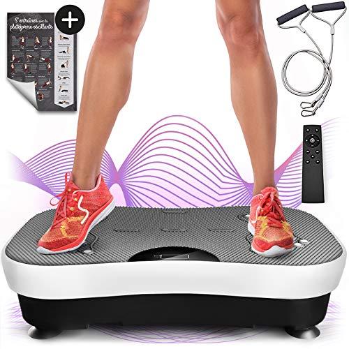 Sportstech Plate-forme vibrante VP210 technologie oscillation Bluetooth, zones de réflexologie plantaire sangles...