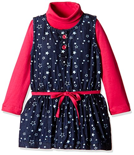 612 League Baby Girls' Dress (ILW00S720013C_Denim_9-12 months)