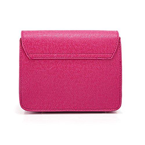 DFUCF Damen PU Büro Beruf Umhängetasche Kuriertasche Handtasche Umhängetasche Taschen Mode Lässig Robust Langlebig Fuchsia