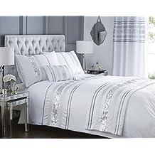 Diseño con texto en colores plateado y blanco colcha para cama doble funda de edredón y 2 funda de almohada de palos de golf sábana