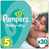 Pampers Baby Dry taille 5, 11–23 kg, 30 couches, 1er Pack (1 x 30 pièces)