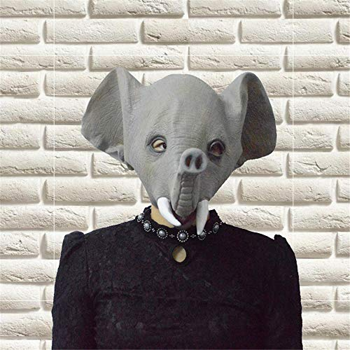 fert Elefanten Maske perücken Spoof Ganze Mann hauben asiatische Elefanten Maske lustige Tier Zeigen Maske ()