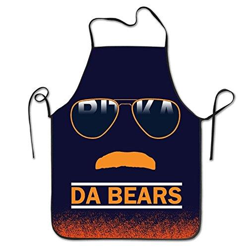 Junzhilin Shop Da Bears Chicago Windy City Mustache Glasses Kitchen Apron, 52 cm X 72 cm
