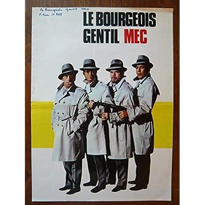 Dossier de presse de Le bourgeois gentil mec (1969) – 33x73 cm - Film de Raoul André avec J Lefebvre, Darryl Cowl, F blanche, A Cordy – Photos – résumé scénario – Bon état.