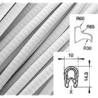 1 m Klemmbereich 0,5-2,5 mm KS-TPE0-2,5W Kantenschutz aus Thermoplast Klemmprofil TPE Wei/ß einfache Montage von SMI-Kantenschutzprofi selbstklemmend ohne Kleber