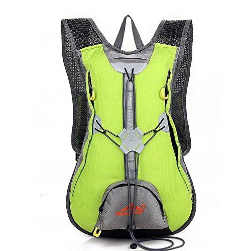 MASLEID Männer und Frauen Reiten Fahrrad Rucksack Outdoor-Taschen wasserdichte Abdeckung Wasser Helmtasche Green