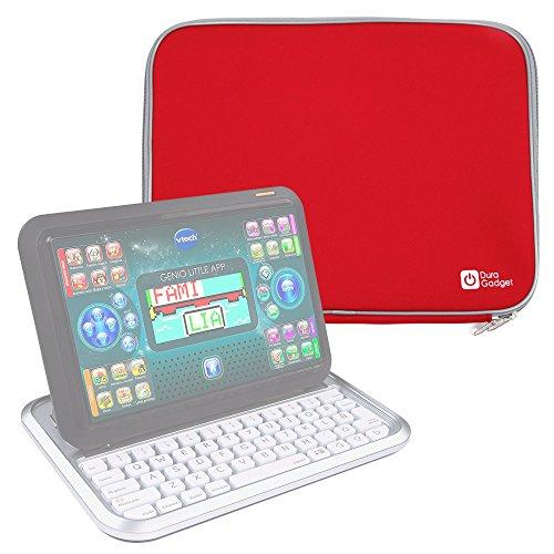 DURAGADGET Funda De Neopreno Roja Compatible Con Ordenador portátil y tablet educativo VTech - Genio Little App - Ideal Para Proteger Su Dispositivo De Golpes Y Arañazos