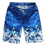OSYARD Herren Shorts Badehose Quick Dry Beach Surfen Laufen Schwimmen Wasserhosen(XL, Dunkler Blau)