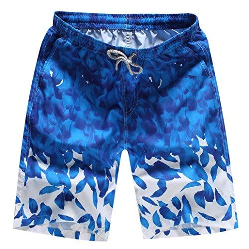 OSYARD Herren Shorts Badehose Quick Dry Beach Surfen Laufen Schwimmen Wasserhosen(3XL, Dunkler Blau)