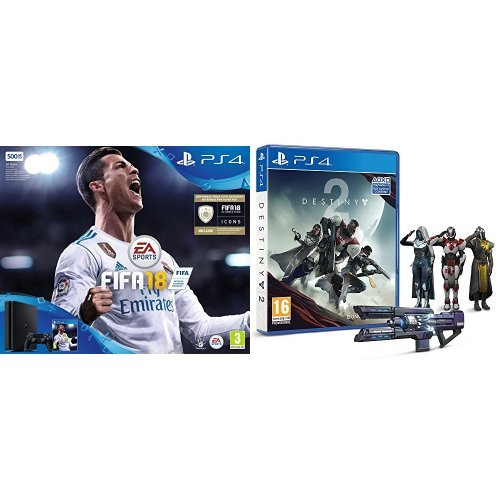 Playstation 4 500 gb + fifa 18 + destiny 2 [esclusiva amazon]