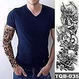 tzxdbh Nuovo Tatuaggio Temporaneo Adesivo Guerriero Paesaggio Battaglia Stile Tatuaggio Braccio Body Art Grande Manica Grande