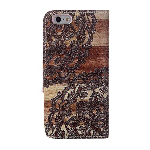MOONCASE Étui pour Apple iPhone 5 / 5S Printing Series Coque en Cuir Portefeuille Housse de Protection à rabat Case Cover XK28 XK07 #0226