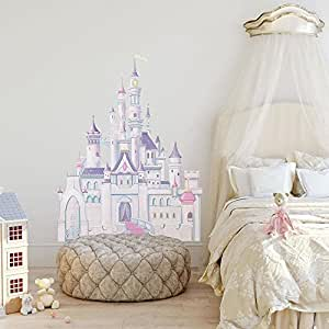 Roommates Disney Princess Castel Giant Wall Decal with Glitter (Multi-Color)