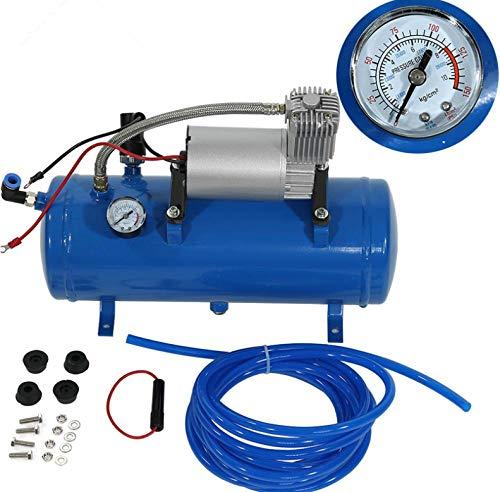 XXYMCB Mini compressore d'Aria Elettrico 150psi 12V con Pompa di gonfiaggio dei Pneumatici per Serbatoio da 6 Litri per Pneumatici per autocarri Pneumat