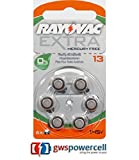 Rayovac Batterien 1,45 V 6-teilig (Set) Akkus von Geräten auditifs-acoustic Special 675/312/13/10-extra Advanced 10/13/312/675-extra Mercury Free 10/13/312/675 – 6er & in Blisterverpackung - 1x Nr. 13 Mercury Free 6er Blister