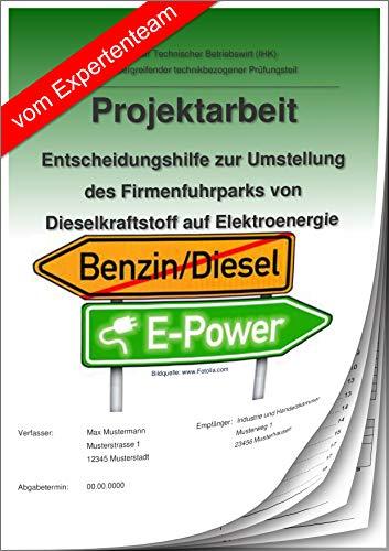 Technischer Betriebswirt Projektarbeit und Präsentation IHK-Entscheidungshilfe/Firmenfuhrpark/Diesel-Elektrofahrzeug