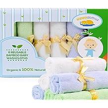 Salviette per Bambini al 100% in Bambù Naturale E Organico, Molto Soffici, Morbide al Tatto e Riutilizzabili/Mini-Asciugamano per Pelli Sensibili, Elegante Regalo, Confezione da 6 25cm x 25cm - Confezione Regalo Riutilizzabile