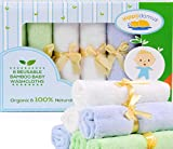 Salviette per Bambini al 100% in Bambù Naturale E Organico, Molto Soffici, Morbide al Tatto e Riutilizzabili/Mini-Asciugamano per Pelli Sensibili, Elegante Regalo, Confezione da 6 25cm x 25cm immagine