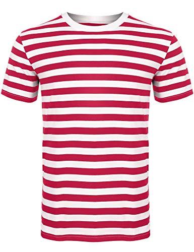 Sykooria Herren T-Shirt Kurzarm Streifen Sommer Hipster Grafik Obst Lässig Unisex Dame Männer T-Shirts Baumwolle -