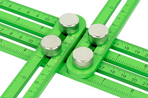 Tool Tacticians Multi-Angle-Vorlage-Lineal | Enthält einen Kennzeichnung Bleistift | Langlebigen Aluminium-Werkzeug mit Metall Knöpfe & 4 seitig Verriegelungsmechanismus