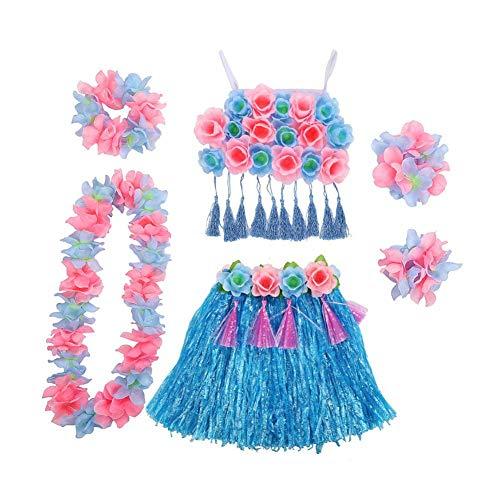 Kostüm Kinder Hawaiianische - Beatie Kostüm für Mädchen Hawaiianisches Hula-Performance-Set für Kinder Kindergartenspiel für Kinder Cheerleading Bühnenkostüme Hawaiianisches Hula-Luau-Partykleid für Kinder