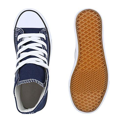 Kinder Turnschuhe Sneakers Schnürschuhe Sportschuhe Stoffschuhe Dunkelblau
