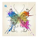Bilderwelten Schiebegardinen Aquarell Schmetterling - Ohne Aufhängung, 4X á 250 x 60cm
