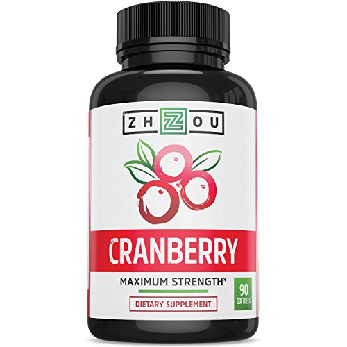 Cranberry Maximum Strength Urinary Tract Support - Non GMO & Gluten Free Antioxidant -Fight Infection & Support Immune System - Concentrate for Bladder & Kidney Health - Once Daily Softgels