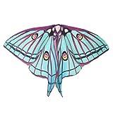 Ailes Pixie Châle accessoire de costume Femme Aile de papillon Cape souple Écharpe écharpes Wrap Nymphe Costume Stage Props Lanspo Taille unique Green