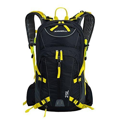 Docooler 25L Fahrrad Rücksack Wasserdicht mit Regenschutzkappe für Sportarten Reiten Bergsteigen , Material: Nylon