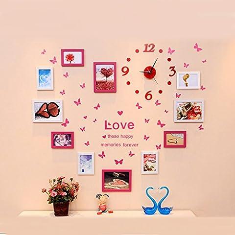 Fu Man Li Trading Company Creative Wall Combination Living Photo Photo Mur Décoration Photo Murale A+ ( Couleur : Heart-shaped white rose )