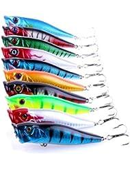 Holacha 9cm Cebo suave plomo Cabeza pescado de mar señuelos de pesca de los trastos de Sharp agudos