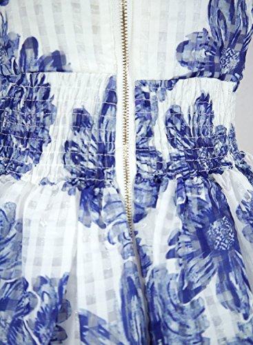 Futurino - Robe - Trapèze - Sans Manche - Femme Weiß