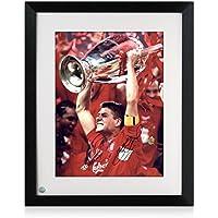exclusivememorabilia.com Enmarcado Steven Gerrard Firmado Champions League  Liverpool Foto  Hemos ganado cinco veces 0e5e37ef6c78c