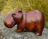 Nilpferd Tier Holz Afrika Flußpferd Asien Hippo03