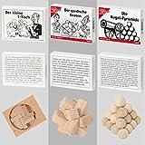 8 beliebte Knobelspiele aus Holz und Metall - 3