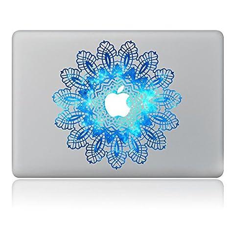 Macbook Skin Aufkleber, Morbuy abnehmbare Kunst Creative Anti-Kratz-Beschichtung Skin Vinyl Schutz MacBook Aufkleber Pro 13 A1706 / A1708 ( Touch Bar /Non Touch Bar) (Blaue (Blumen Lichtschalter Covers)