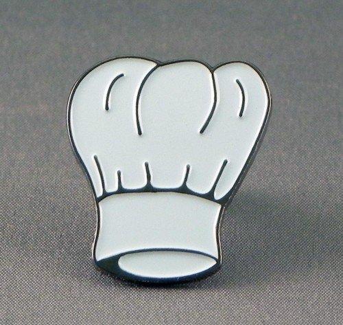Pin de Metal esmaltado, Insignia Blanco Gorro de Cocinero (Toque)