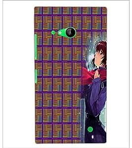 PrintDhaba Random Design D-4010 Back Case Cover for NOKIA LUMIA 730 (Multi-Coloured)