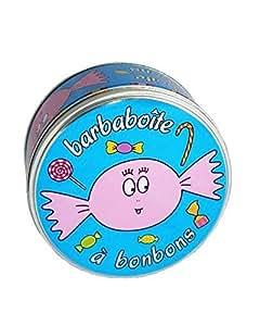 Petite boîte en métal Barbapapa - Barbaboite à Bonbons - petite taille diamètre 13cm - boite métallique de décoration