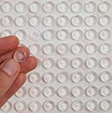 Simply the Best: 4Stk. x 3m Silikon Gummi Füße,–klar–12mm x 5mm–Mega Stark Selfadhesive Kreise