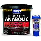 USN Muscle Fuel Anabolic 4 kg Vanilla Flavour, Ultimate All-In-One shake, Free USN Tornado Shaker