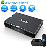 Android 9.0 TV Box 4GB RAM 64GB ROM, KMCBOX X96H Android Box Allwinner H603 Quad-Core 64bits Dual-WiFi 2.4G/5.0G,3D Ultra HD 4K H.265 USB 3.0 BT 4.1 Smart TV Box