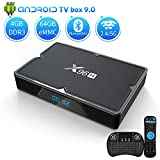 Android 9.0 TV Box 4GB RAM 64GB ROM, Aoxun X96H Android Box Allwinner H603 Quad-Core 64bits Dual-WiFi 2.4G/5.0G,3D Ultra HD 4K H.265 USB 3.0 BT 4.1 Smart TV Box