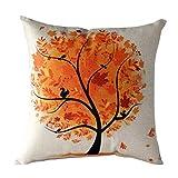 Sannysis® fodere per cuscini federa vintage di cotone stampato floreale divano(orange)