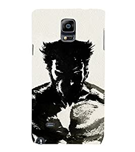 EPICCASE wolverino upclose Mobile Back Case Cover For Samsung Galaxy Note 4 (Designer Case)