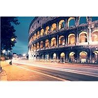 POSTERLOUNGE Póster 120 x 80 cm: Night at The Coliseum de Matteo Colombo - Impresión Artística de Alta Calidad, Nuevo Póster Artístico