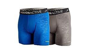 Mission Men's VaporActive Boxer Briefs (2 Pack)