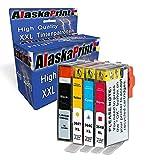 Alaskaprint 4X Druckerpatronen kompatibel zu HP 364XL 364 XL Photosmart 5520 5510 6520 7520 DeskJet 3520 3070A OfficeJet 4620 Drucker Tinte Patrone Tintenpatrone